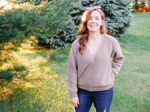 crochet Ballet Wrap Sweater free pattern