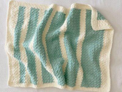 crochet Bernat Baby Blanket Sparkle Throw free pattern