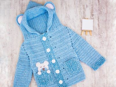 crochet Easy Boy Cardigan free pattern