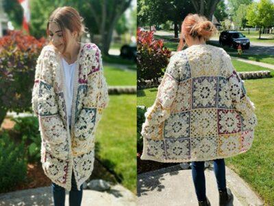 crochet Festival Coat Cardigan free pattern
