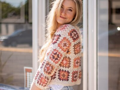crochet Granny Square Cardigan free pattern