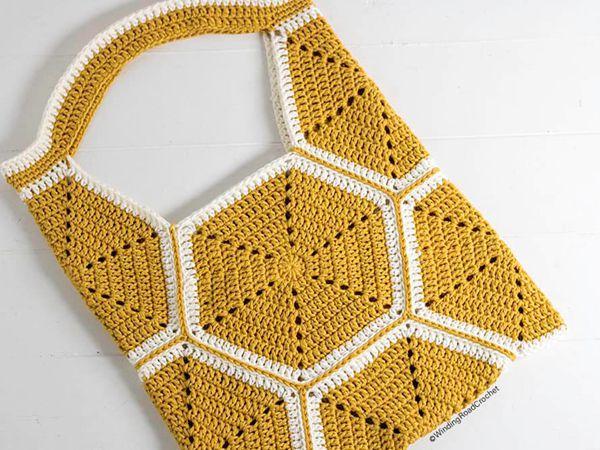 crochet Hexagon Tote Bag free pattern