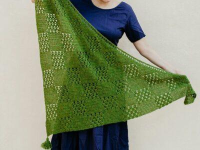 crochet Mayil Shawl free pattern