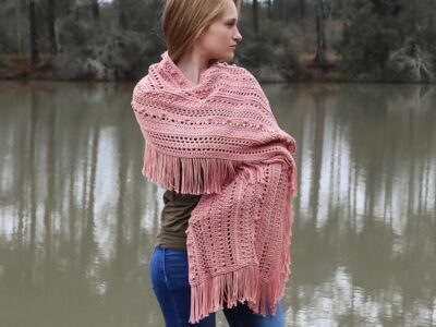 crochet Modern and Beautiful Shawl free pattern
