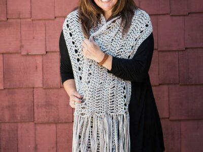 crochet Shoreline Wrap free pattern