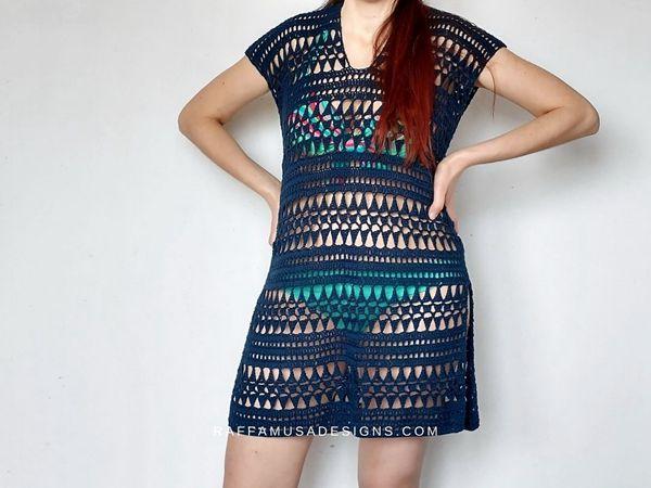 crochet Summer Beach Cover Up free pattern