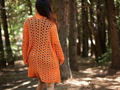 crochet Sweet Marmalade Cardigan easy pattern