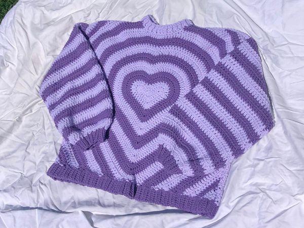 crochet The Valentina Sweater easy pattern