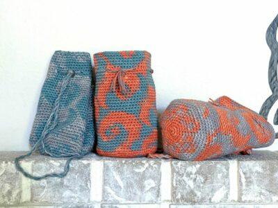 crochet Wave Breaker Bag free pattern