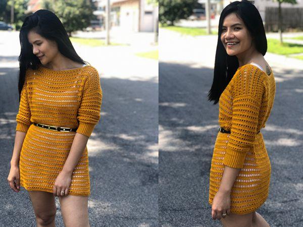 CROCHET Summer Sweater Dress easy