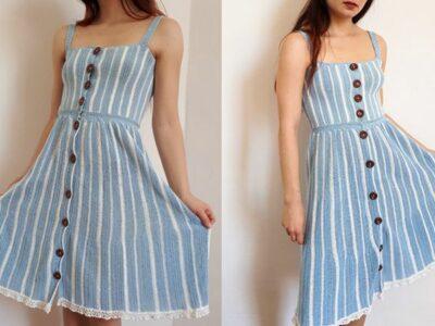 crochet Alice in the Wonderland Dress easy pattern
