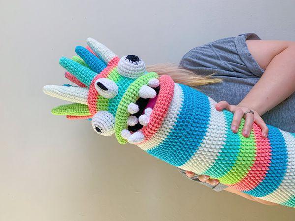 crochet Alien Monster Body Pillow easy pattern