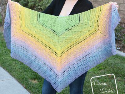 crochet Alix Shawl free pattern