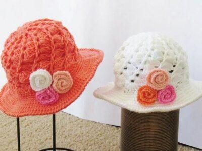 crochet April Sun Hat free pattern