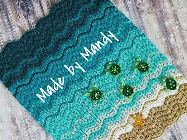 crochet Baby Sea Turtle Blanket free pattern