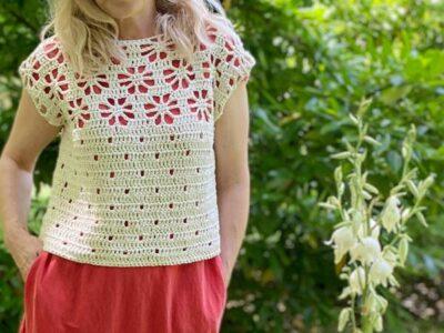 crochet Blossom Sweater easy pattern