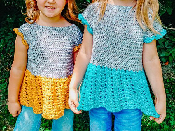 crochet Child Sophie Twirl Raglan easy pattern