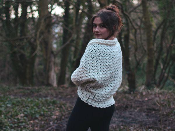 crochet Elegant Cocoon Cardigan free pattern