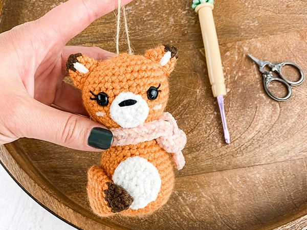 crochet Fox Ornament free pattern