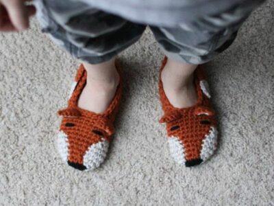 crochet Fox Slippers easy pattern