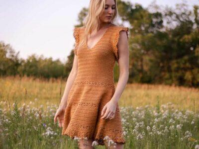 crochet Golden Hour Sun Dress free pattern