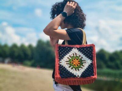 crochet Hessian Bag free pattern
