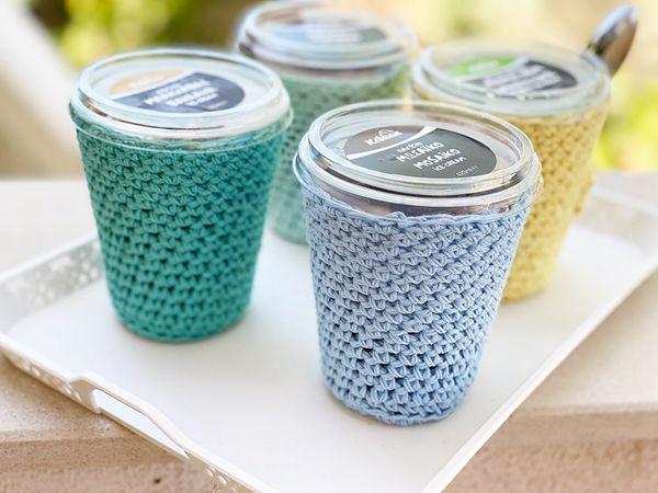 crochet Ice Cream Cozy free pattern