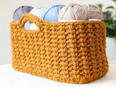 crochet Jessie Stash Basket free pattern