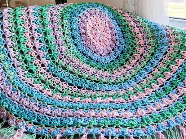 crochet Juniper Circle Blanket easy pattern