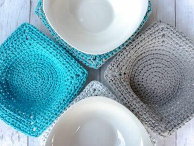 crochet Microwave Bowl Cozy free pattern