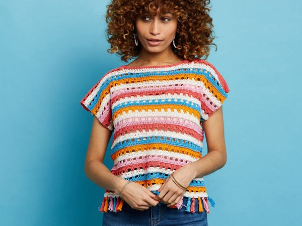 crochet Party in the Park Top easy pattern