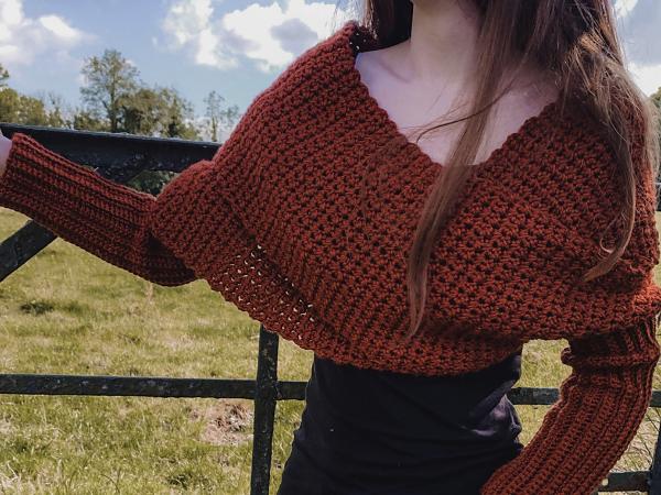 crochet SWEATER SCARF free pattern