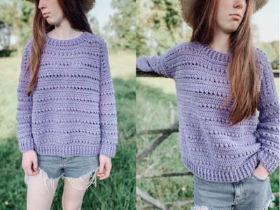 crochet Samhradh Sweater free pattern
