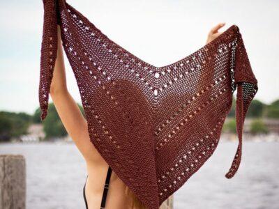 crochet Seaside Shawl free pattern