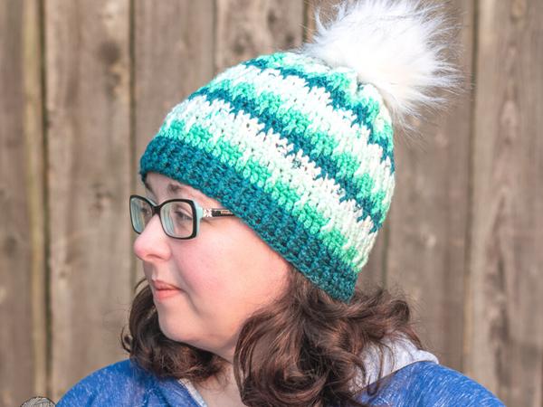 crochet Shifting Posts Hat free pattern
