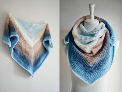 crochet Simple Tunisian Shawl free pattern