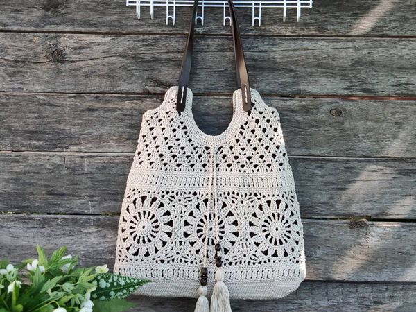 crochet Summer Boho Tote easy pattern