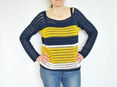 crochet Summer Sailing Sweater free pattern