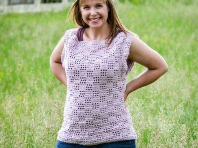 crochet Valerie Tee free pattern