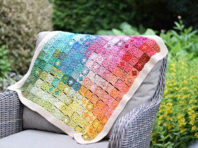 crochet Watercolor Granny Blanket free pattern