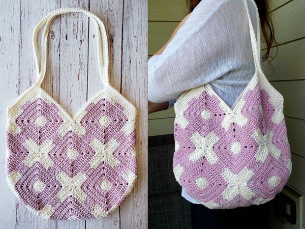 crochet XO Bag free pattern