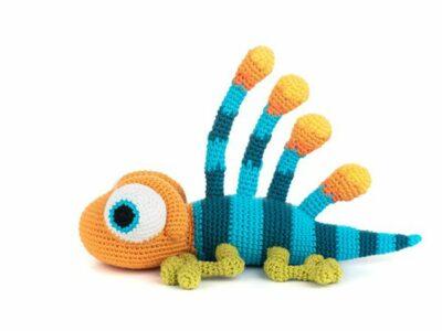 crochet Albert the Longisquama Amigurumi easy pattern