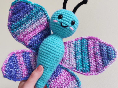 crochet BRIA THE BUTTERFLY free pattern