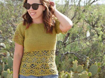 crochet Bahama Blouse Top free pattern