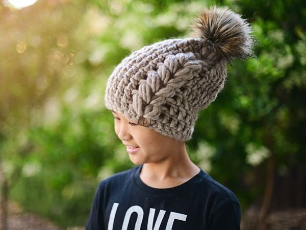 crochet Barley Beanie easy pattern