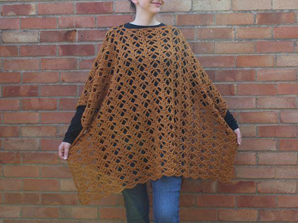 crochet Bella Poncho free pattern