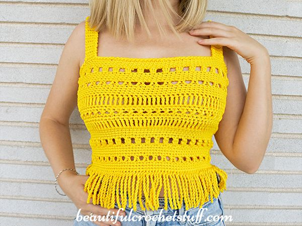 crochet Casual Sunny Top free pattern