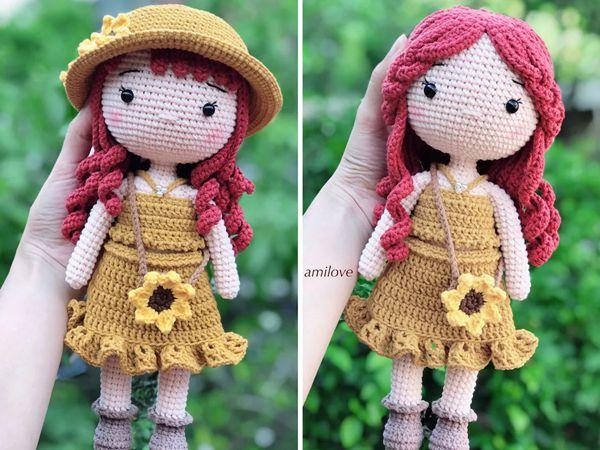 crochet Cute Girl Doll easy pattern