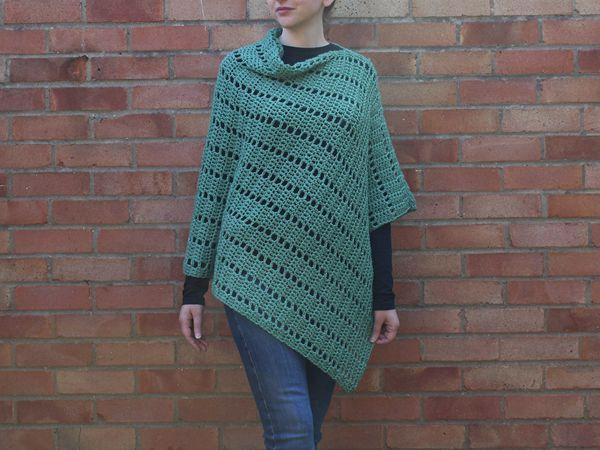 crochet Darla Asymmetrical Poncho free pattern