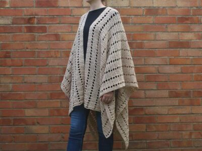 crochet Darla Ruana Poncho free pattern